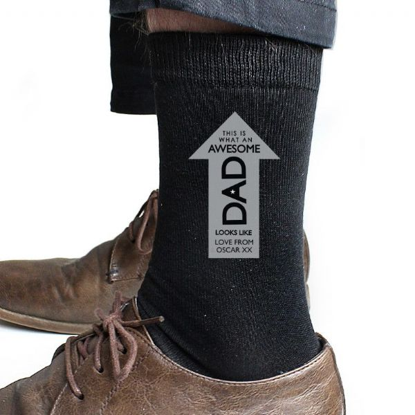 Personalised Awesome Dad Men's Socks